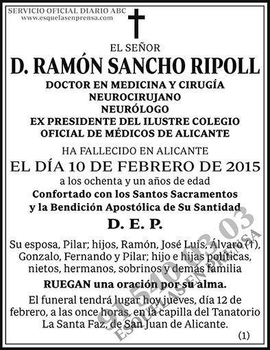 Ramón Sancho Ripoll
